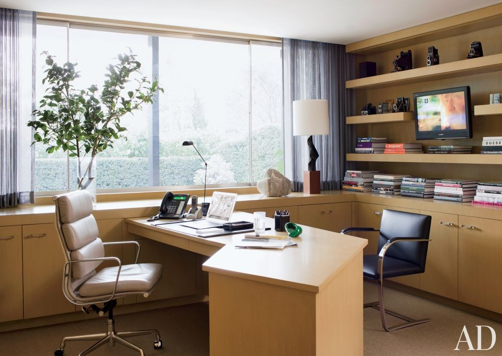 Modern Office/Library by Brad Dunning Design in Beverly Hills, California