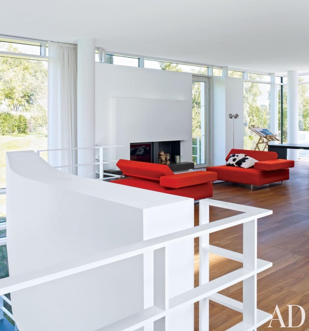 Modern Office/Library by Richard Meier & Partners Architects and Richard Meier & Partners Architects in Luxembourg
