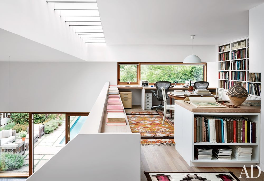 Modern Office/Library and Christoff:Finio Architecture in Sagaponack, New York