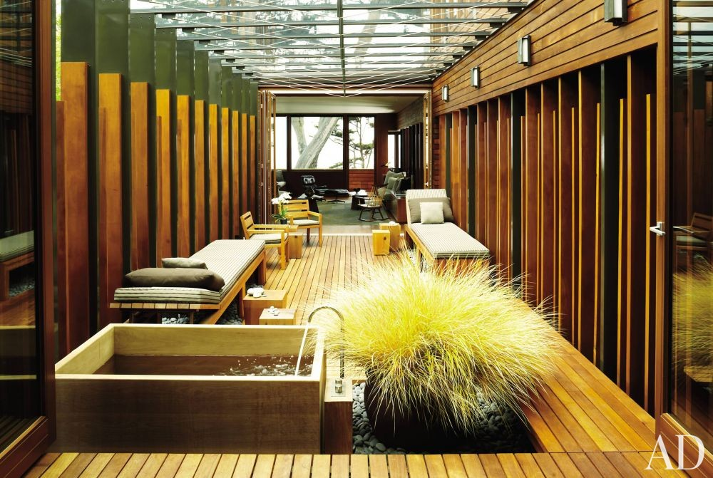 Modern Outdoor Space and Dirk Denison in Carmel-by-the-Sea, California