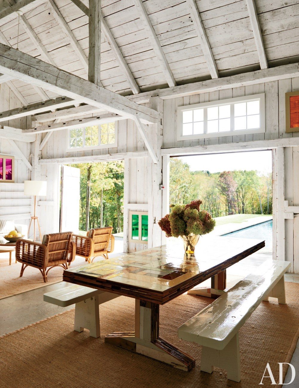 Modern Outdoor Space by India Mahdavi in Litchfield County, CT