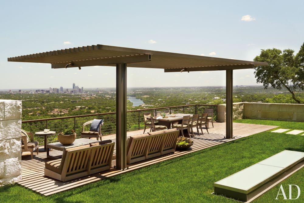 Modern Outdoor Space by Terry Hunziker Inc. and Lake | Flato Architects in Austin, Texas