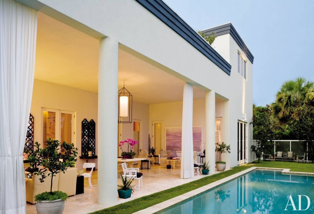 Modern pool by allan reyes interiors by architectural for Interior design west palm beach