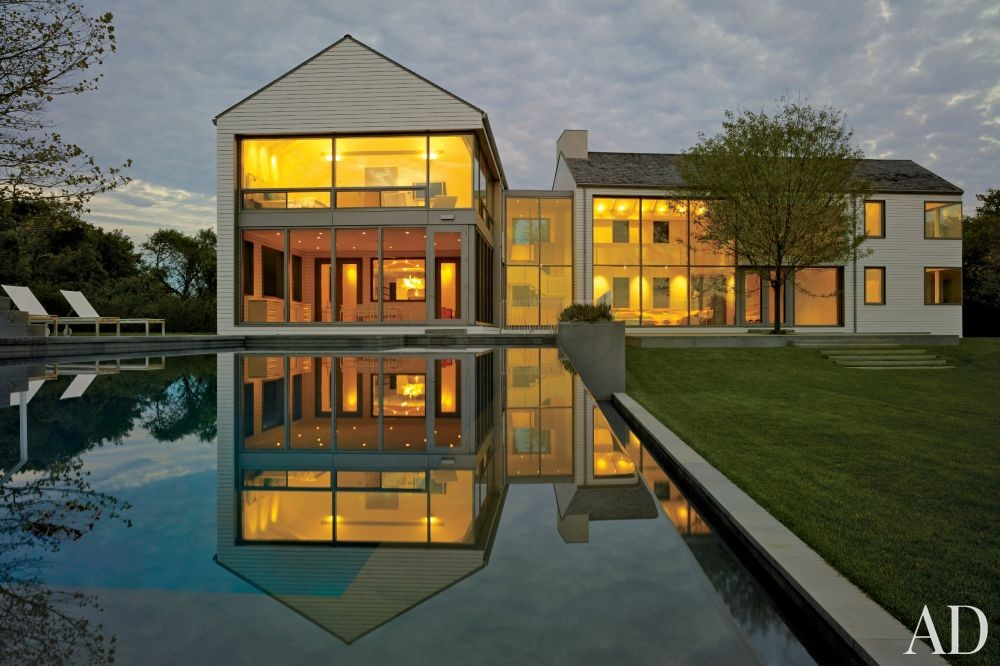 Modern Pool by KA Design Group and Leroy Street Studio in East Hampton, New York