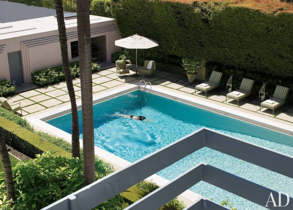 Modern pool by michael s smith inc by architectural for Pool design los angeles ca