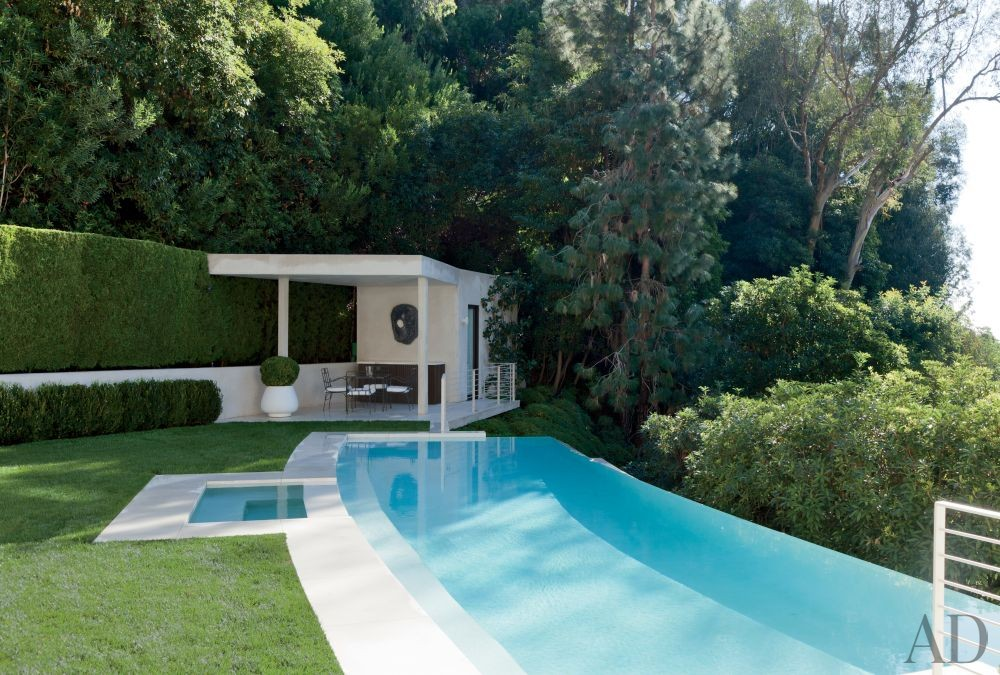 Modern pool by waldo 39 s designs by architectural digest for Pool design los angeles