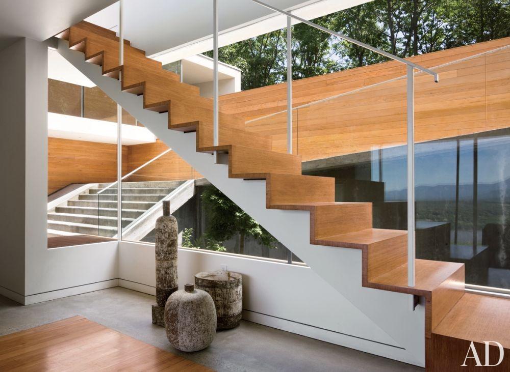 Modern Staircase/Hallway by Joel Sanders Architect and Joel Sanders Architect in Hudson River Valley, New York