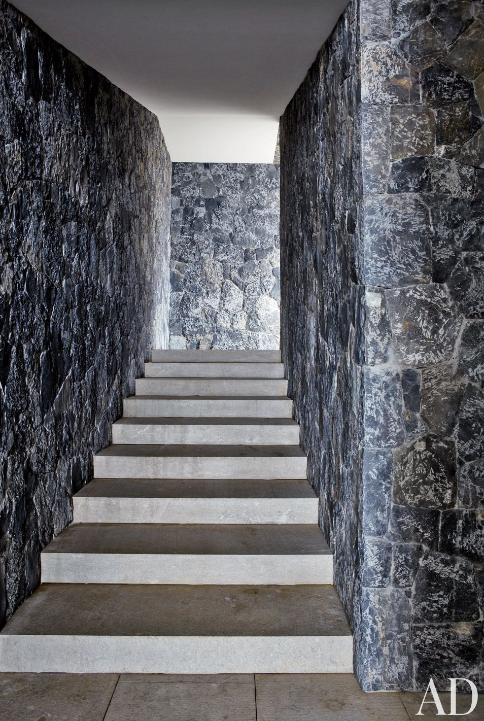 Modern Staircase/Hallway and Gwathmey Siegel & Associates Architects in St. Barts