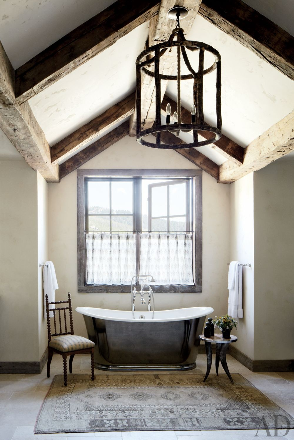 Rustic Living Room By Markham Roberts Inc By: Rustic Bathroom By Markham Roberts Inc. By Architectural