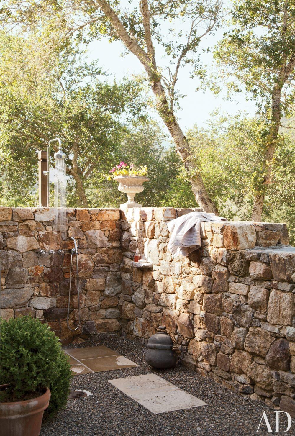 Rustic Bathroom by Rela Gleason and McAlpine Tankersley Architecture in Calistoga, California