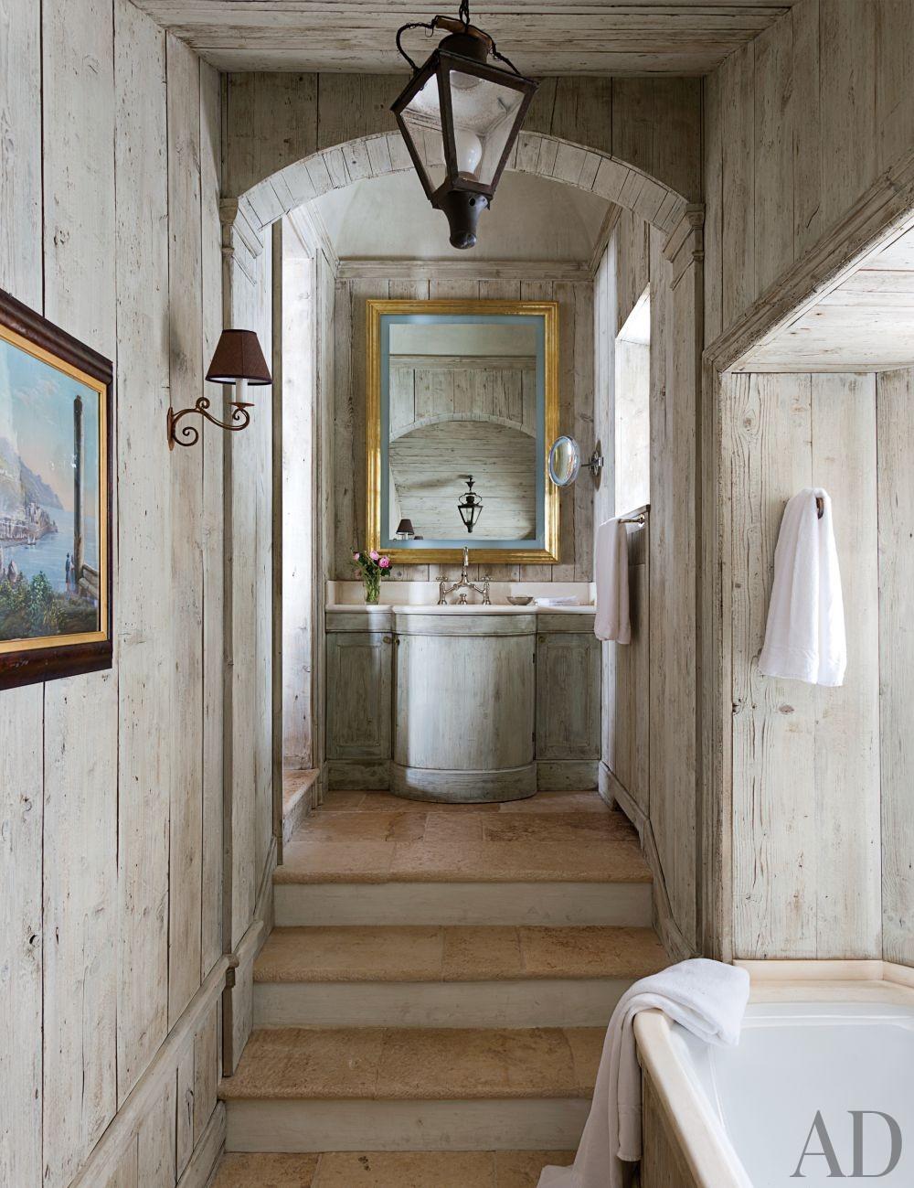 Rustic Bathroom by Studio Peregalli in Saint Moritz, Switzerland