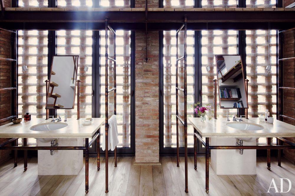 Rustic Bathroom and Benedikt Bolza in Umbria, Italy