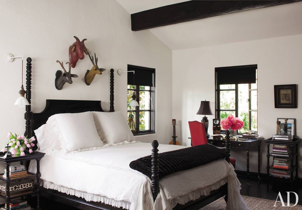 Rustic Bedroom in Hollywood Hills, California