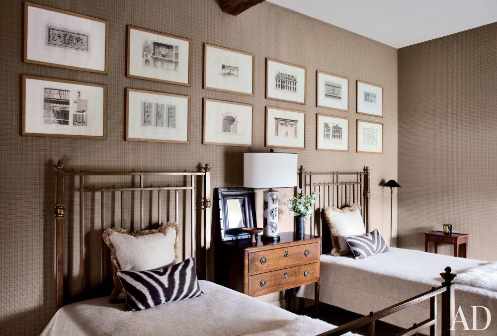 Rustic Bedroom by Jean-Louis Deniot and Jean-Louis Deniot in Loire Valley, France