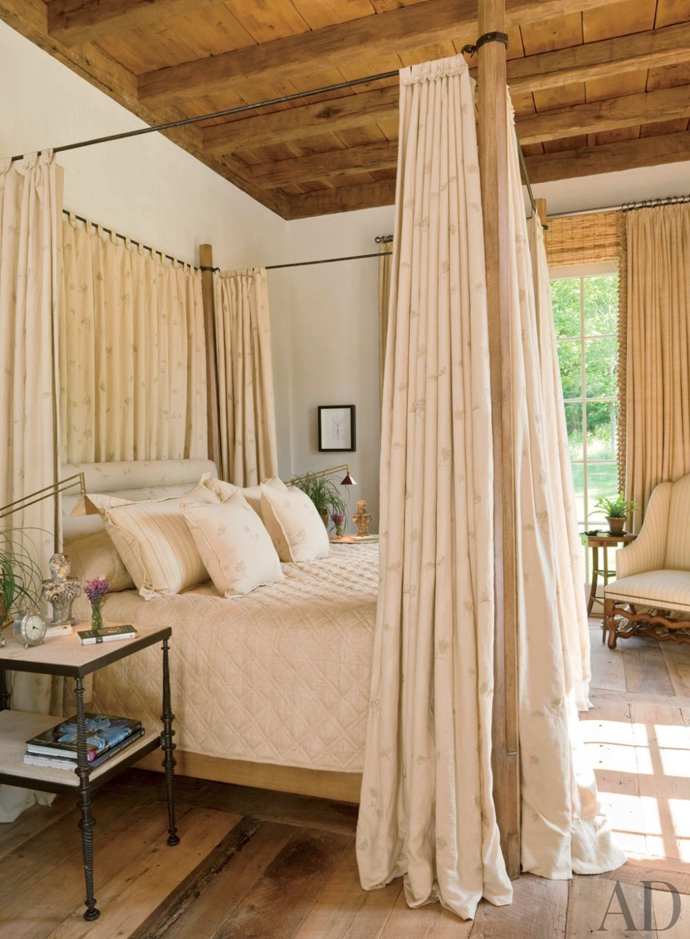 Rustic Bedroom by John Cottrell Co. and G. P. Schafer Architect in Litchfield County, Connecticut