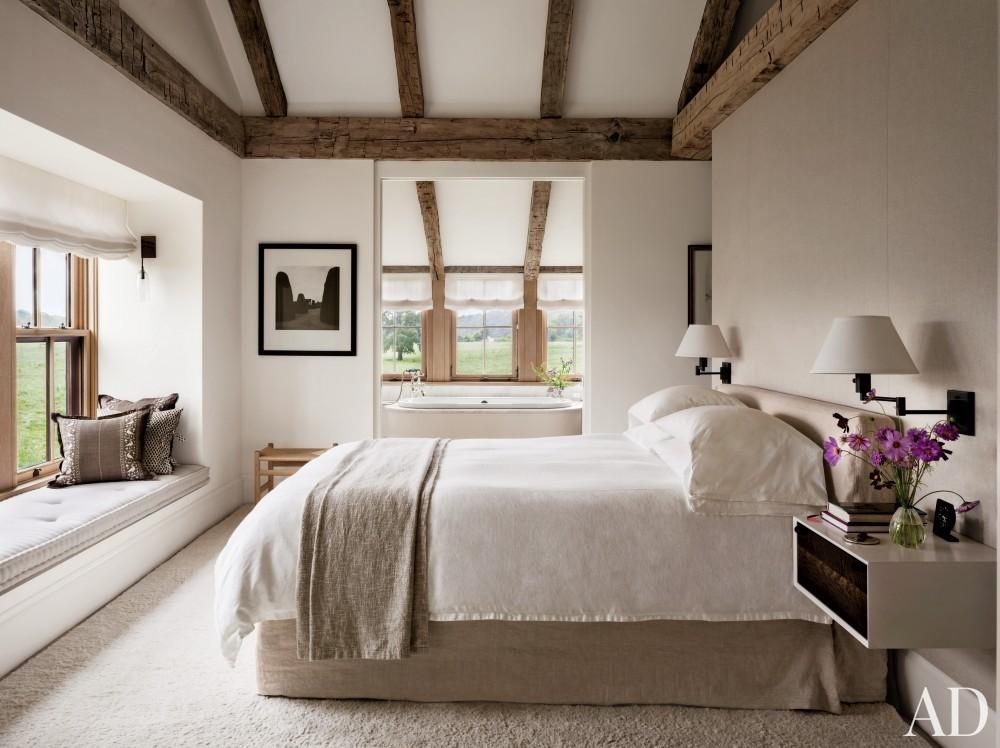 Rustic Bedroom by Kathleen Walsh and Mark Hutker in Martha\'s Vineyard, MA