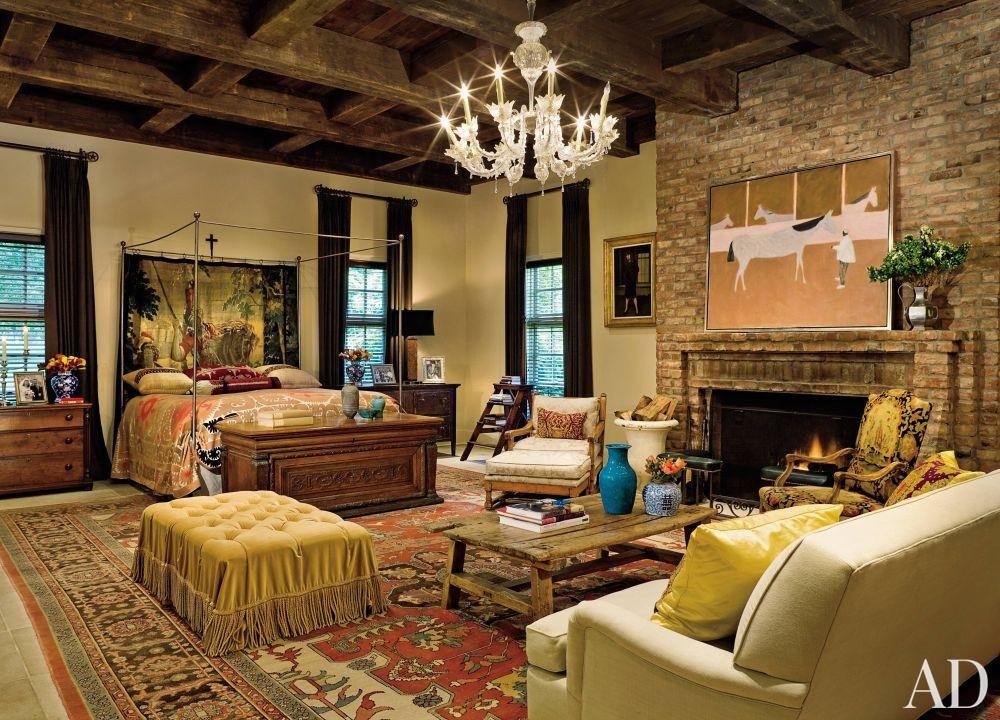 Rustic Bedroom by Mona Hajj and Elby S. Martin in Lexington, Kentucky