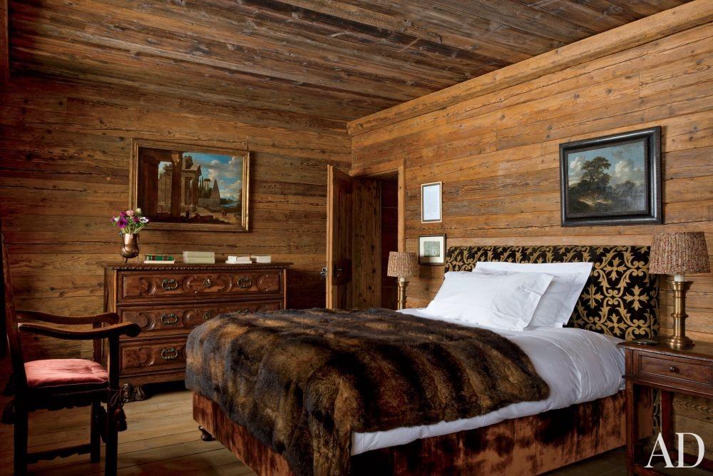 Rustic Bedroom by Studio Peregalli in Saint Moritz, Switzerland