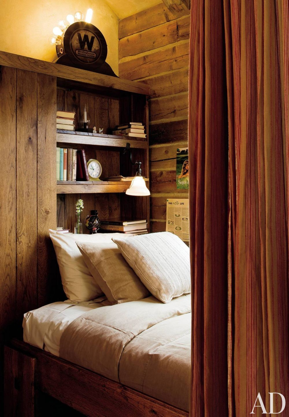 Rustic Bedroom by Studio Sofield in Colorado