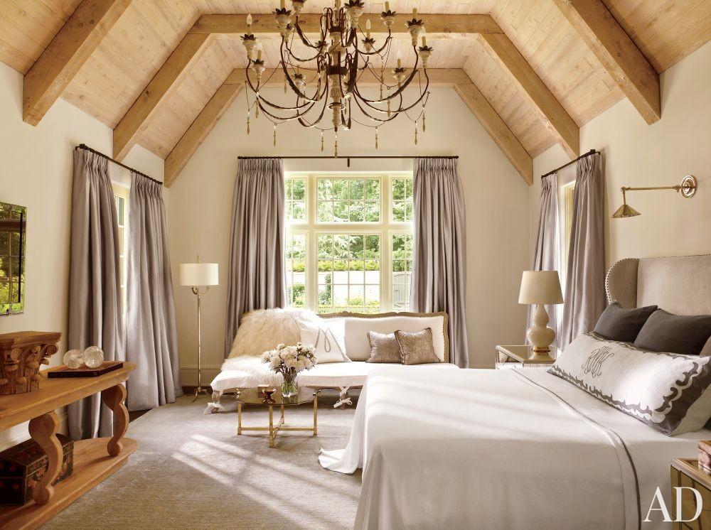 rustic bedroom by suzanne kasler interiors by architectural digest