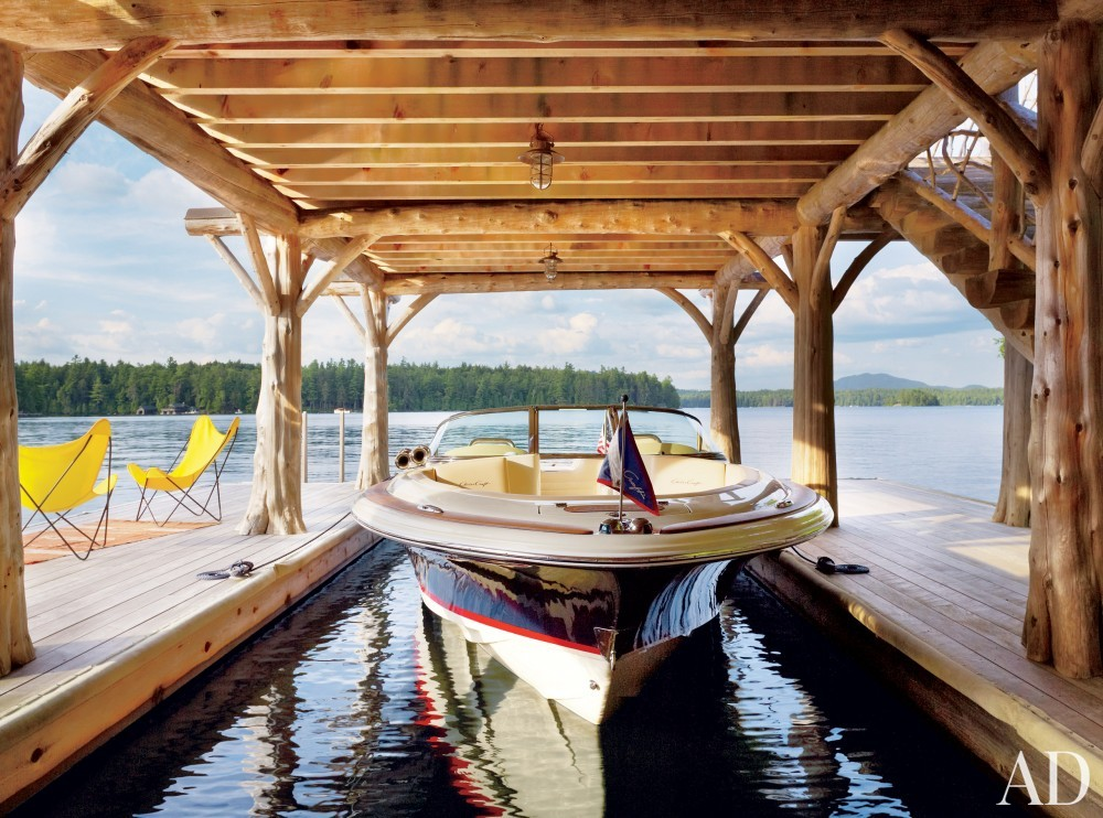 Rustic Boathouse By Thom Filicia By Architectural Digest