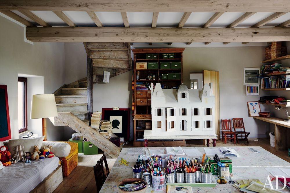 Rustic Children\'s Room and Benedikt Bolza in Umbria, Italy