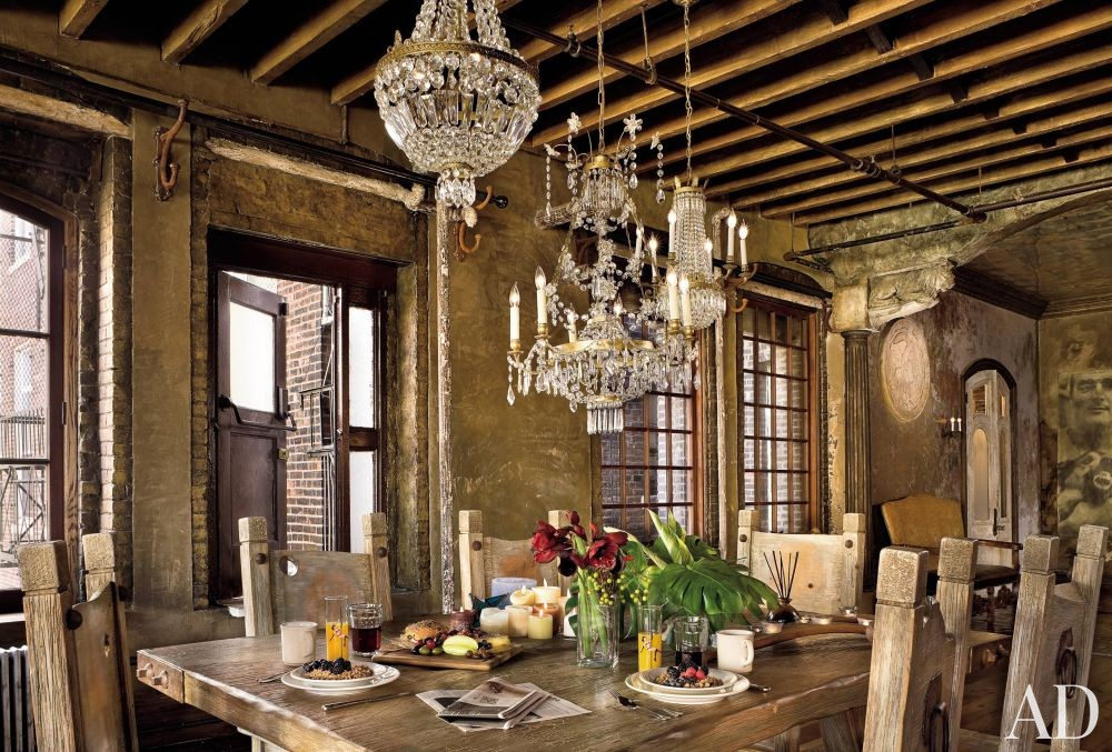 Rustic Dining Room by Elvis Restaino and Alexander Gorlin Architects in New York City