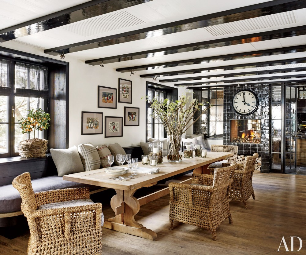 rustic dining room by s r gambrel inc by architectural