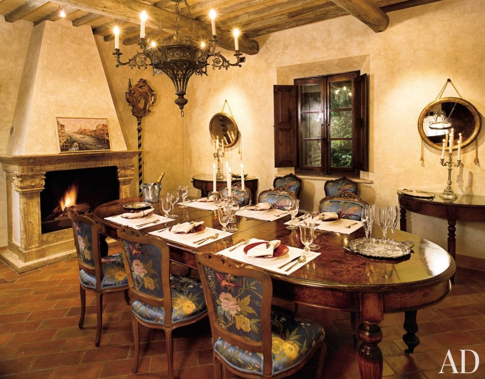 Rustic Dining Room in Tuscany