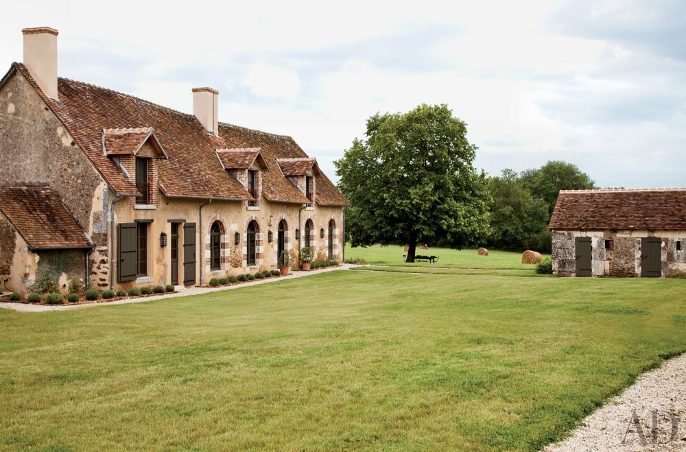 Rustic Exterior by Jean-Louis Deniot in Loire Valley, France