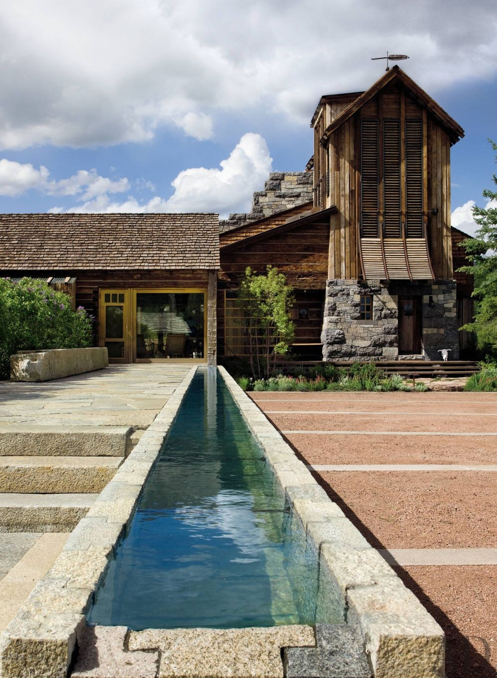 Rustic Living Room By Studio Sofield By Architectural: Rustic Exterior By Studio Sofield By Architectural Digest