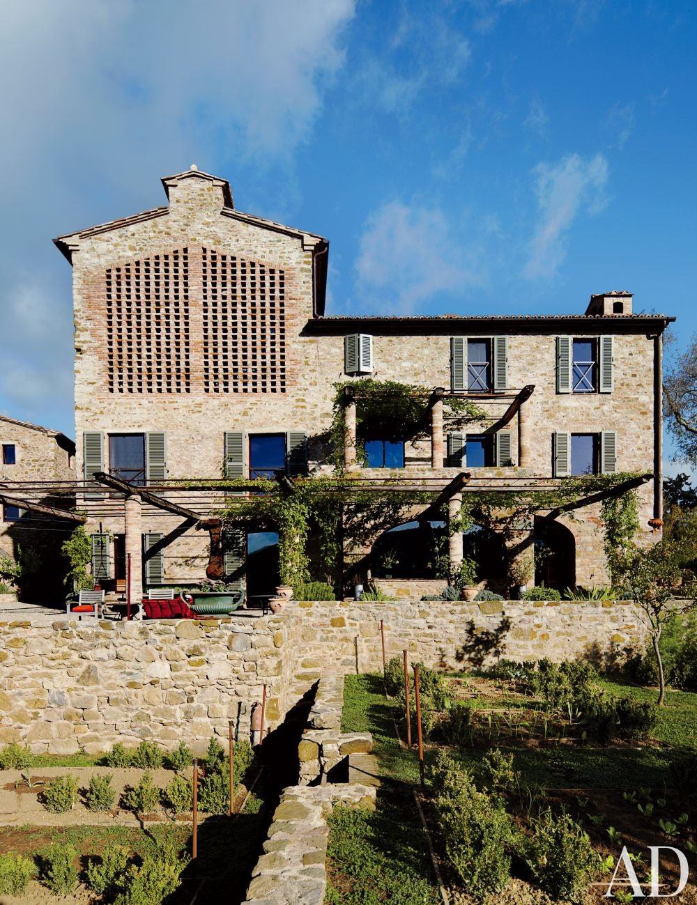 Rustic Exterior and Benedikt Bolza in Umbria, Italy