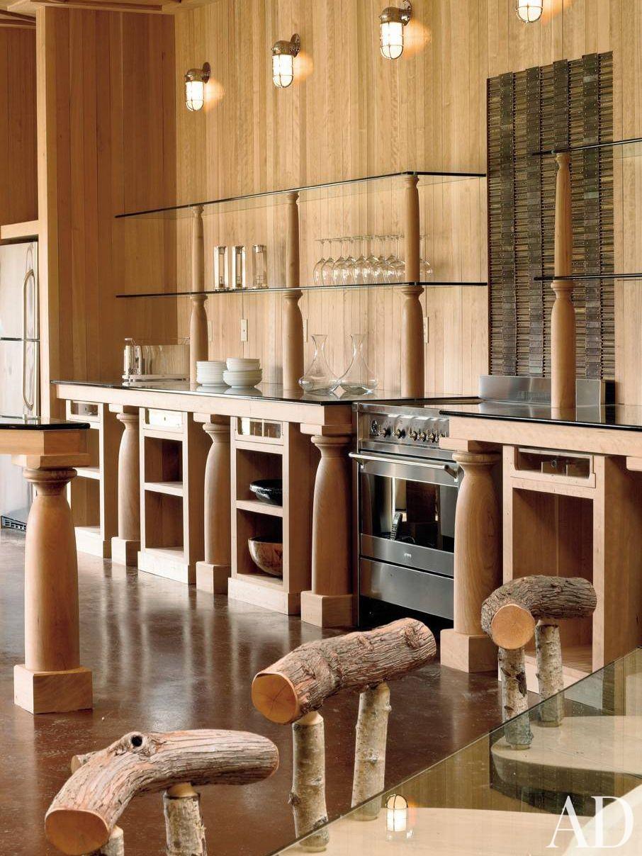 Rustic Kitchen and Allan Shope in Amenia, New York
