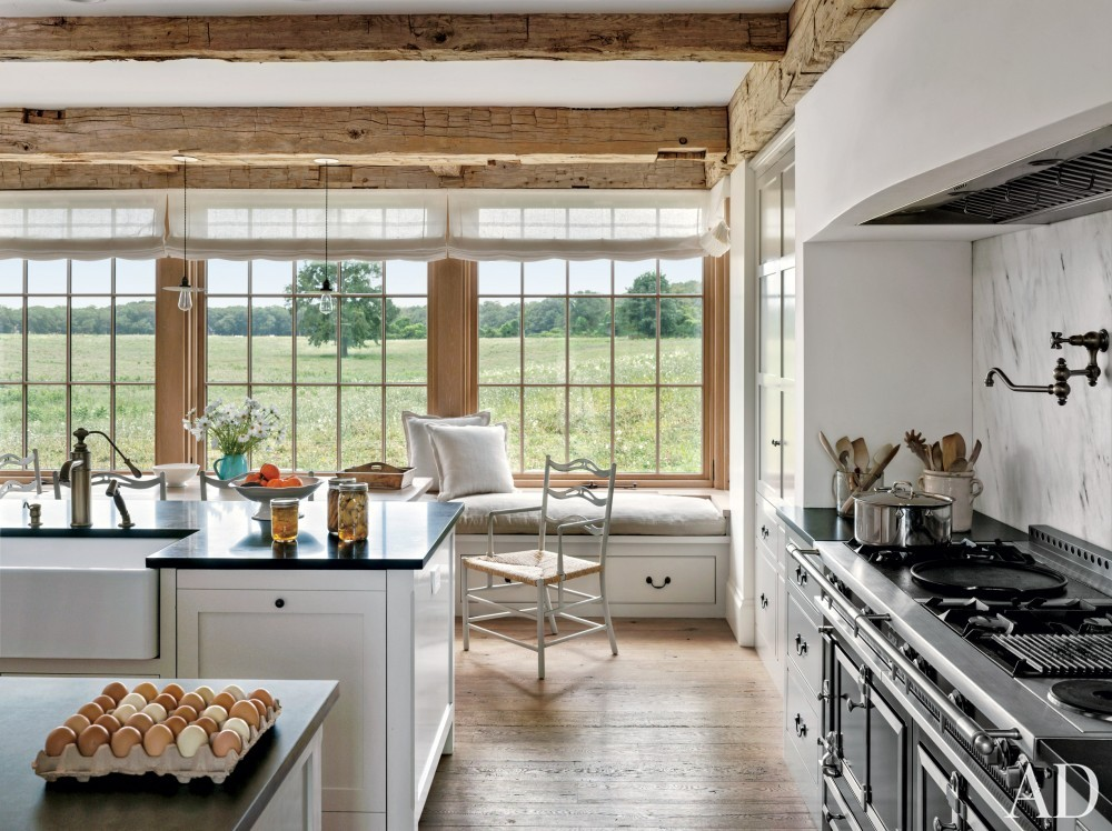 Rustic Kitchen by Kathleen Walsh and Mark Hutker in Martha\'s Vineyard, MA