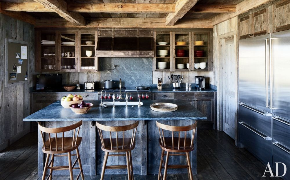 Rustic Kitchen by Markham Roberts Inc. and JLF & Associates Inc. in Big Sky, Montana