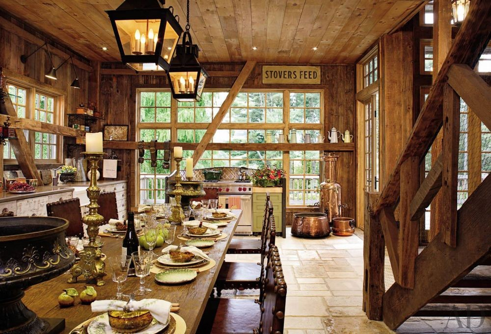 Rustic Kitchen by Penny Drue Baird and Irwin Weiner in Bucks County, Pennsylvania
