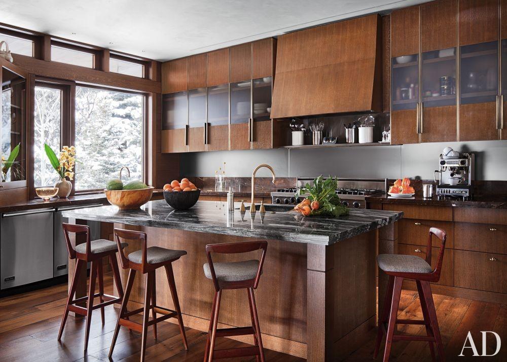 Rustic Kitchen by Studio Sofield and Studio B Architects in Aspen, Colorado
