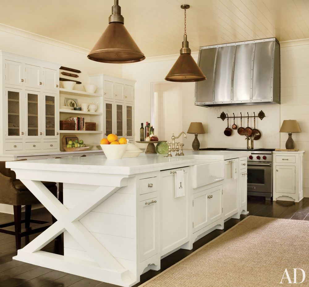 Rustic Kitchen by Suzanne Kasler Interiors and William T. Baker & Associates Ltd.