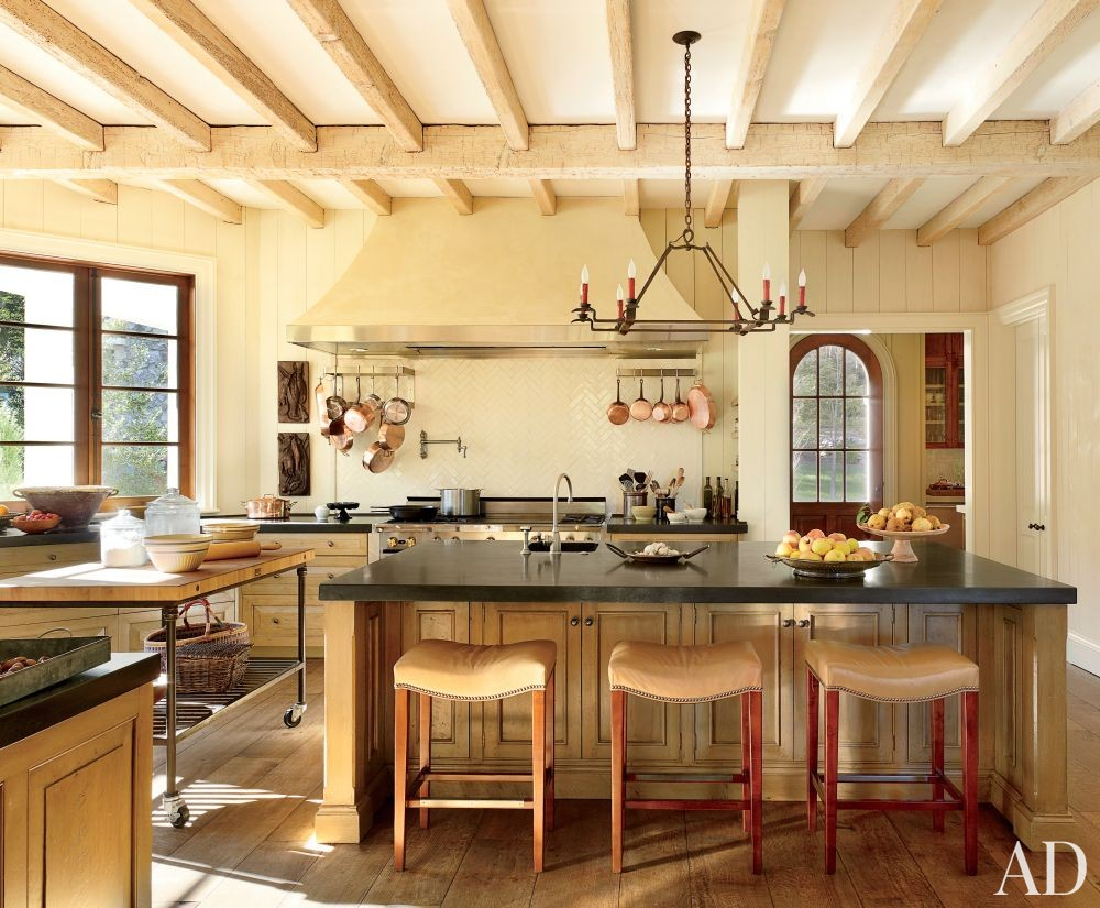 Rustic Kitchen by Suzanne Kasler Interiors and Spitzmiller & Norris in Walland, Tennessee