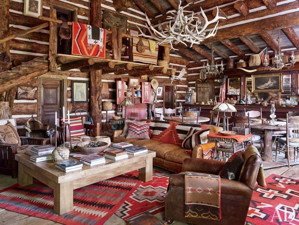 Rustic Living Room in Colorado