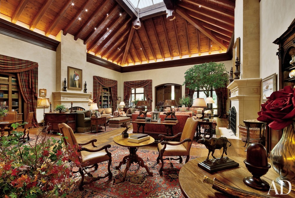 Rustic Living Room By Markham Roberts Inc By: Rustic Living Room By John Cottrell By Architectural