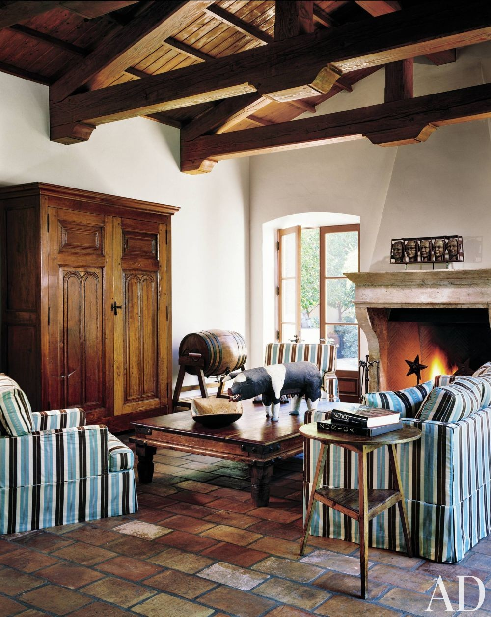 Rustic living room by karin blake by architectural digest for The family room los angeles