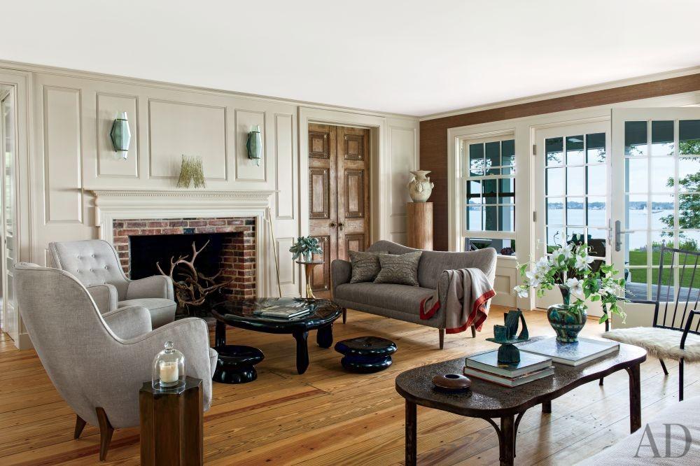 Rustic Living Room by Piccione Architecture & Design and Piccione Architecture & Design in Shelter Island, New York