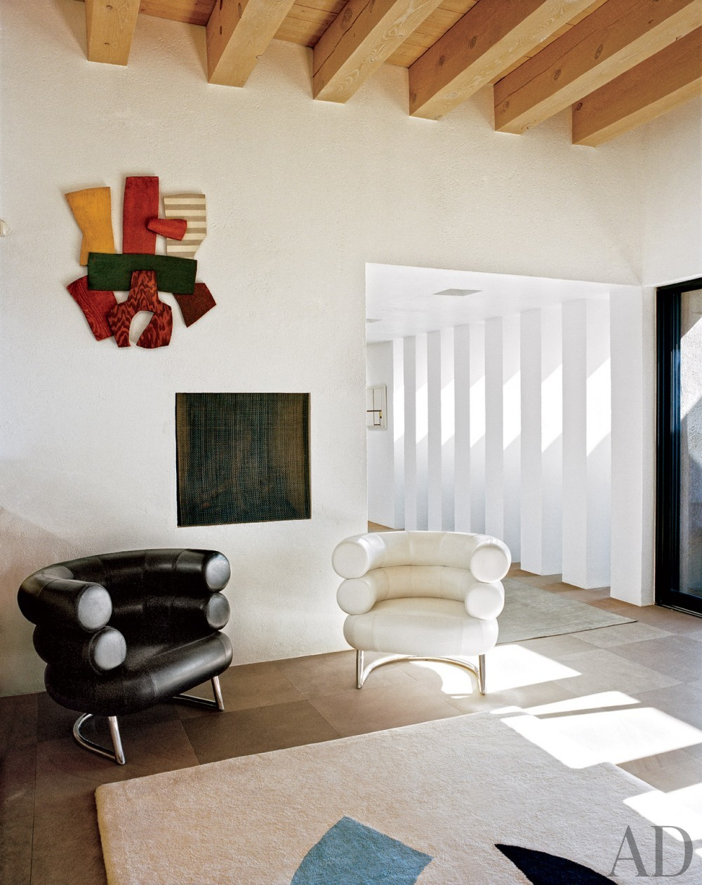 Rustic Living Room and Ralph Ridgeway in Santa Fe, New Mexico