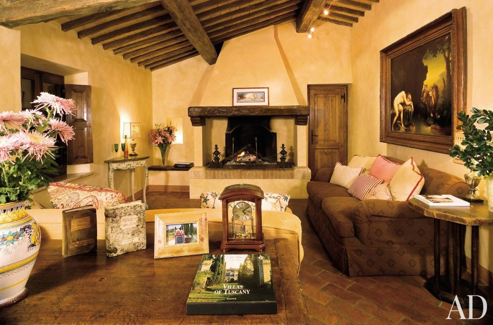 Robert Zemeckiss Rustic Living Room by Architectural