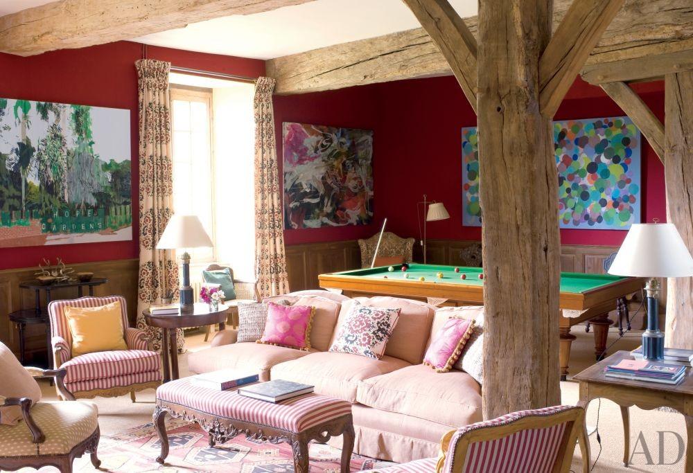 Rustic Media/Game Room by Mlinaric, Hernry & Zervudachi in La Beauce, France
