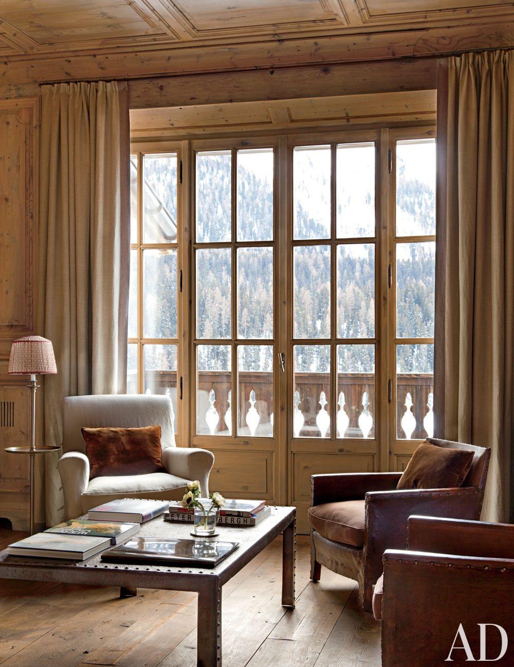 Rustic Media/Game Room by Studio Peregalli in Saint Moritz, Switzerland