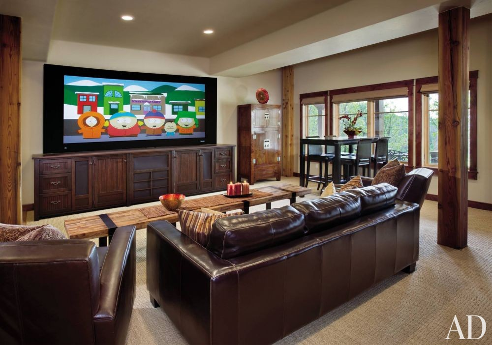 Rustic Media/Game Room by Trilogy Partners in Steamboat Springs, Colorado
