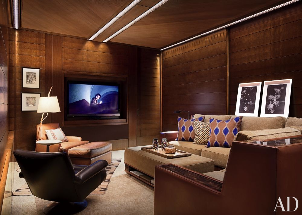 Rustic Media/Game Room by Studio Sofield and Studio B Architects in Aspen, Colorado