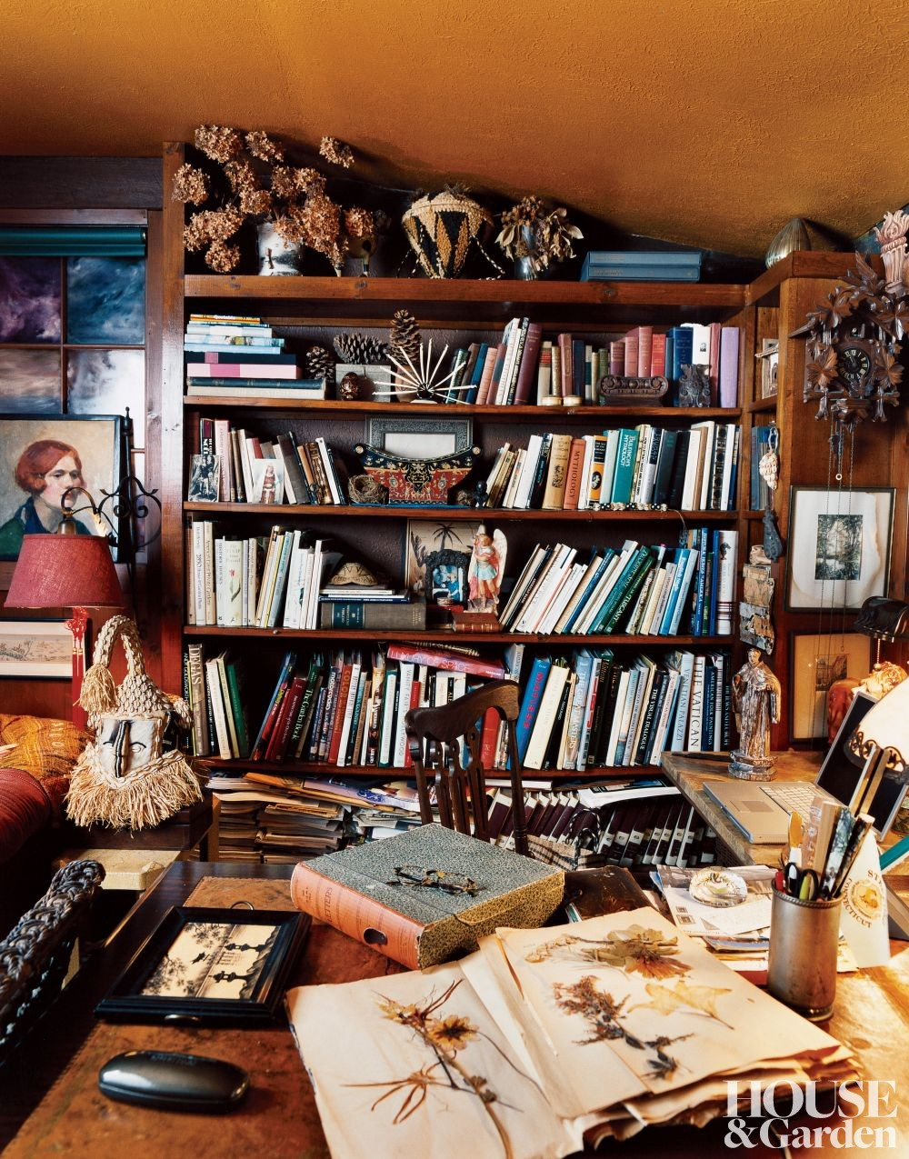 Rustic Office/Library in Connecticut